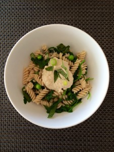 Barley Pasta with Peas and Cashew Cream